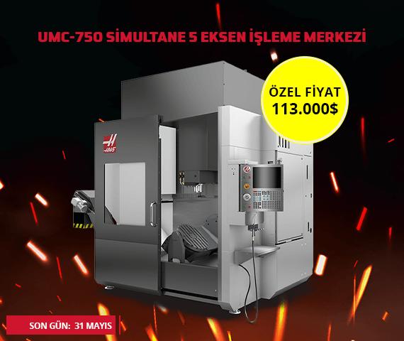 umc-750 5 eksen cnc makinası kampanyası